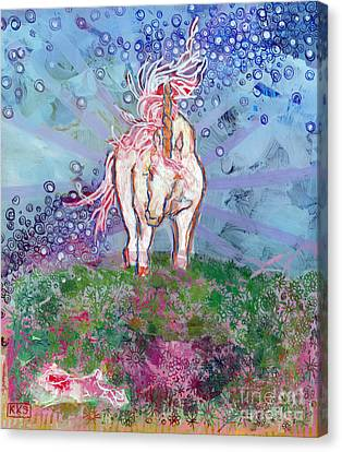 Unicorns Canvas Print - Unicorn Tears by Kimberly Santini