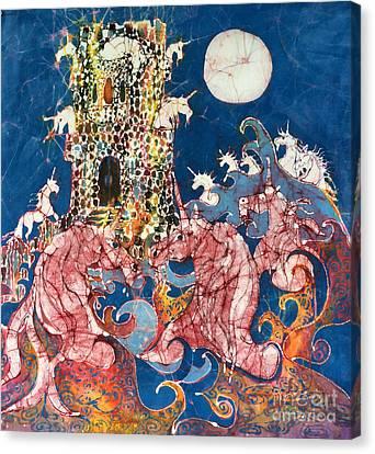 Unicorns Take Castle Canvas Print