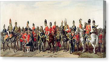 Uniforms Of The British Army Canvas Print