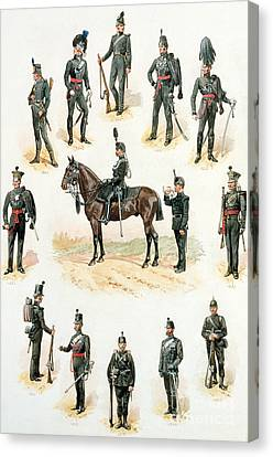 Uniforms Of The Rifle Brigade Canvas Print