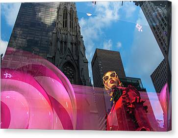 Canvas Print featuring the photograph Unimpressed In New York by Alex Lapidus
