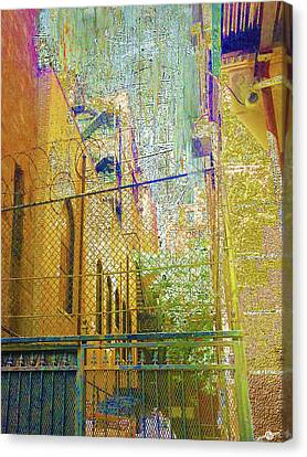 Barbed Wire Fences Canvas Print - Uninvited by Tony Rubino
