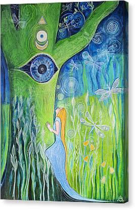 Eternal Flow Canvas Print - Union by Agnieszka Szalabska