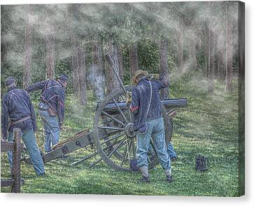 Union Civil War Cannon Canvas Print by Randy Steele
