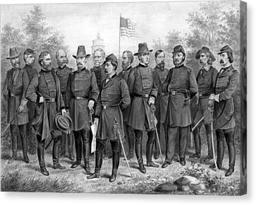 Union Generals Of The Civil War  Canvas Print by War Is Hell Store