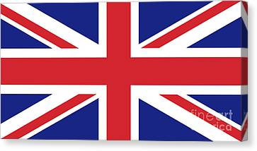 Canvas Print featuring the digital art Union Jack Ensign Flag 1x2 Scale by Bruce Stanfield
