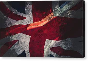 Union Jack Fine Art, Abstract Vision Of Great Britain Flag Canvas Print