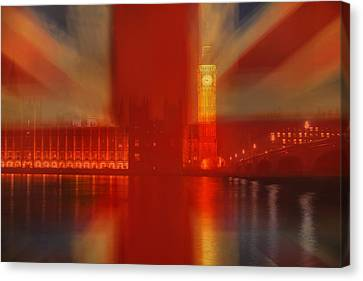 Union Jack Over London Canvas Print by Andrew Soundarajan