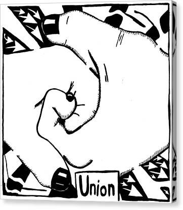Union Maze Canvas Print by Yonatan Frimer Maze Artist