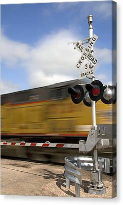Union Pacific Coal Train Canvas Print by David R Frazier and Photo Researchers