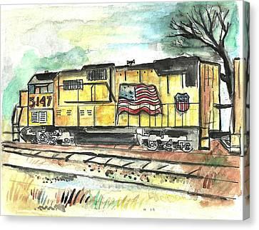Union Pacific Engine Canvas Print by Matt Gaudian