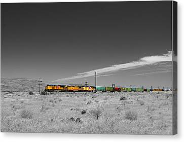 Union Pacific In Columbia Gorge Canvas Print