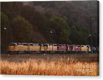 Union Pacific Locomotive Trains . 7d10551 Canvas Print by Wingsdomain Art and Photography