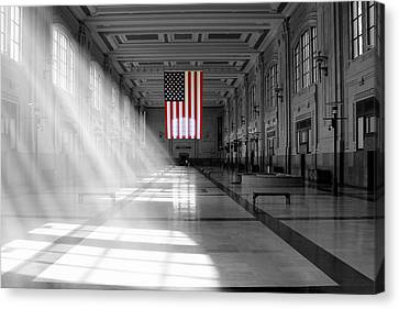 Union Station 2 - Kansas City Canvas Print by Mike McGlothlen