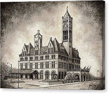 Union Station Mixed Media Canvas Print