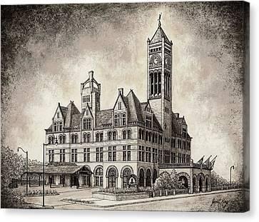 Union Station Mixed Media Canvas Print