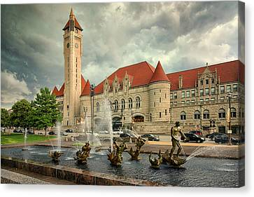 Union Station St Louis Color Dsc00422 Canvas Print