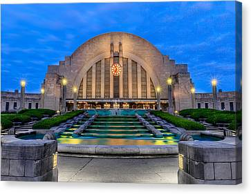 Union Terminal At Sunrise II Canvas Print by Keith Allen