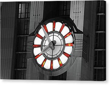 Union Terminal Clock Canvas Print by Russell Todd