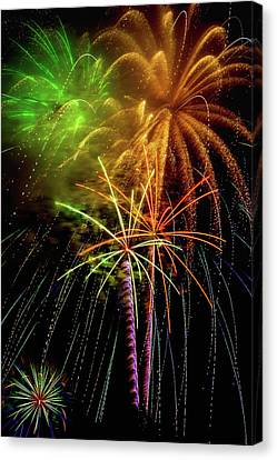 Pyrotechnic Canvas Print - Unique Fireworks by Garry Gay