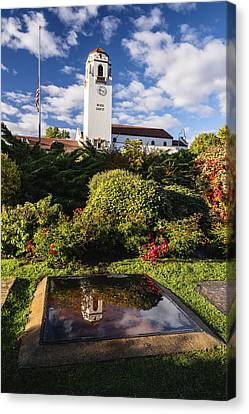 Unique View Of Boise Depot In Boise Idaho Canvas Print by Vishwanath Bhat