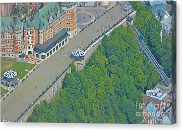 Unique View Of Funicular Canvas Print by John Malone