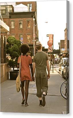Uniqueness Couple Canvas Print by Jordan  Drapeau