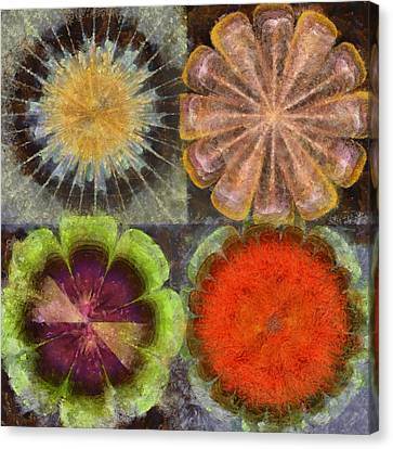Uniteable Formation Flower  Id 16165-084538-89880 Canvas Print by S Lurk