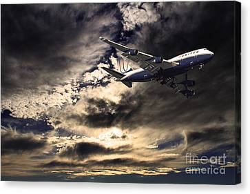 United Airlines . Flying The Friendly Skies Canvas Print by Wingsdomain Art and Photography
