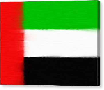 United Arab Emirates Painted Flag Canvas Print by Dan Sproul