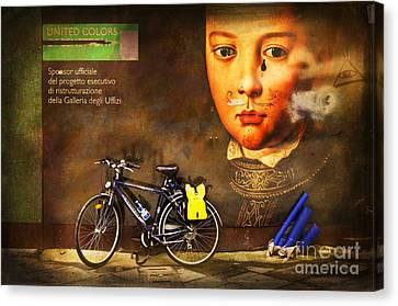 Canvas Print featuring the photograph United Colors Bicycle by Craig J Satterlee
