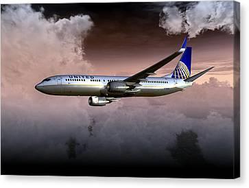 United Continental 737 Ng 01 Canvas Print