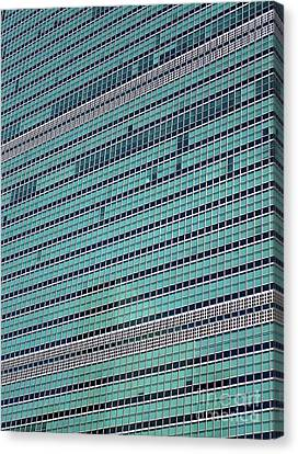 Canvas Print featuring the photograph United Nations 2 by Randall Weidner