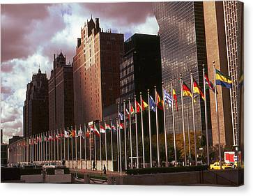 New York - United Nations Flags Canvas Print