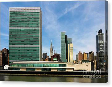 United Nations Skyline Canvas Print by Thomas Marchessault