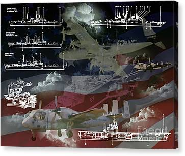 United States Armed Forces Two Canvas Print by Ken Frischkorn
