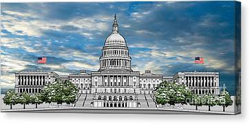 United States Capitol Building Canvas Print by Doug LaRue