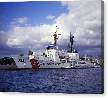 United States Coast Guard Cutter Rush Canvas Print by Michael Wood