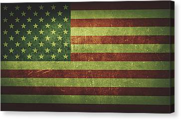 United States Distressed Flag Dehner Canvas Print