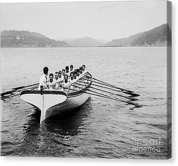 United States Navy Rowing Team Ca 1890 Canvas Print by Jon Neidert