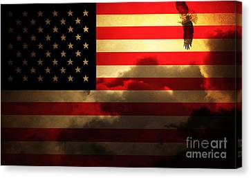 United States Of America . Land Of The Free Canvas Print by Wingsdomain Art and Photography