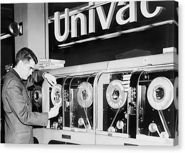 Univac Was The First Computer Designed Canvas Print by Everett