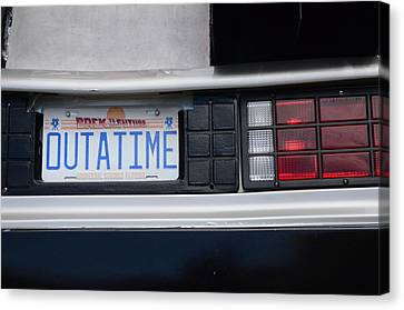 Outatime Plates Canvas Print by Luke Pickard
