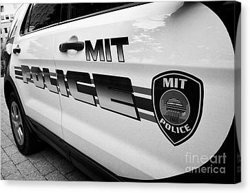 university campus police patrol vehicle Boston USA Canvas Print
