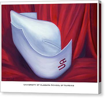 University Of Alabama School Of Nursing Canvas Print by Marlyn Boyd