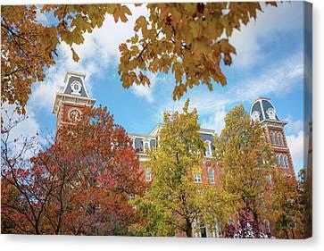 University Of Arkansas Canvas Print - University Of Arkansas Razorback Campus During Autumn by Gregory Ballos