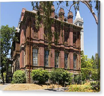 University Of California Berkeley Historic South Hall And The Campanile Dsc4058 Canvas Print