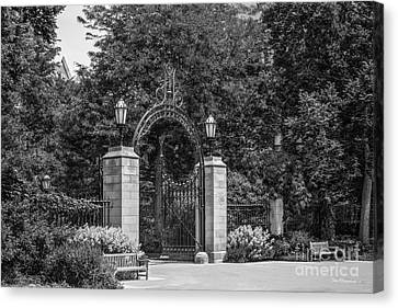 University Of Chicago Hull Court Gate Canvas Print by University Icons