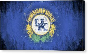 Kentucky Wildcats Canvas Print - University Of Kentucky State Flag by JC Findley
