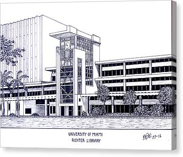 University Of Miami Canvas Print by Frederic Kohli
